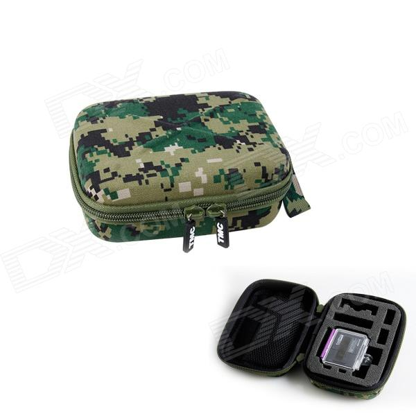 TMC HR123-MAD EVA + Nylon Zippered Case Pouch for GoPro HD Hero 3 / 3+ - Camouflage (Size S) medium waterproof eva gopro case for hero1 2 3 3 4 warm grey
