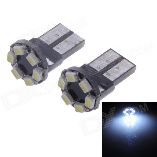 0.8W 42lm 6000K T10 6-1206 SMD LED White Light License Light / Indoor Light (2 PCS)
