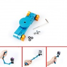 BZ288 Multi-angle Multi-functional Foldable Grip Mount Monopod for Gopro Hero 4 - Sapphire Blue
