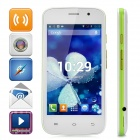 "S500 Android 4.2 Dual-core WCDMA Bar Phone w/ 4.0"" Screen, Wi-Fi and Bluetooth - White + Green"