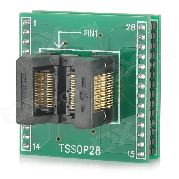 цена на TSSOP28 to DIP28 Programmer Adapter - Green + Black
