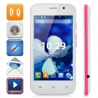 "S500 Dual-core Android 4.2 WCDMA Bar Phone w/ 4.0"" Screen, Wi-Fi and Bluetooth - White + Deep Pink"