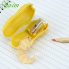 Saim Cute Peanut Shaped Pencile Sharpener - Earthy Yellow (4 PCS)