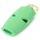 Outdoor Land-and-water Emergency / Suvival Whistle w/ Key Ring - Green