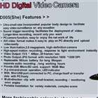 Mini 1.3 Mega Pixels DV/Camera + USB 2.0 Webcam with Microphone (TF Card Slot)