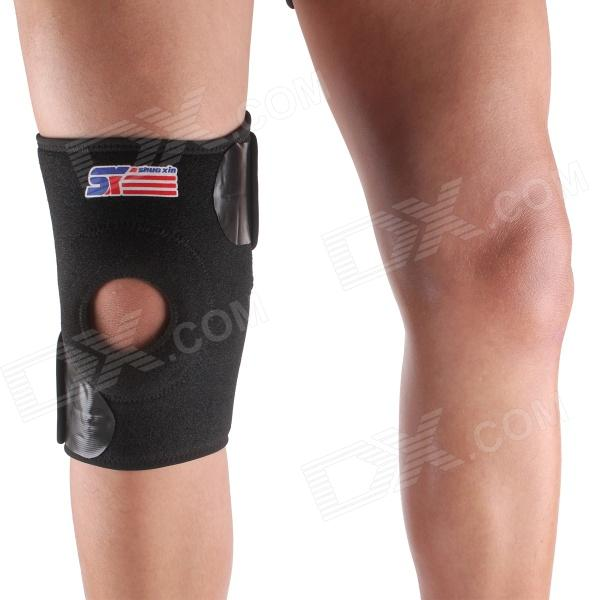 ShuoXin SX608 X-model Adjustable Sports Knee Guard Protector - Black