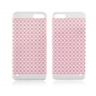 Angibabe 0.3mm Plaid Pattern Protective TPU Back Case for IPHONE 4 / 4S - Red + Transparent