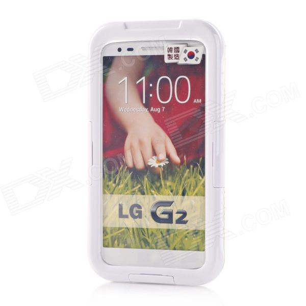 Protective Waterproof Shockproof PC + Silicone Case Cover for LG G2 - White outer lcd screen lens top glass for lg g2 d800 d801 d802 d803 d805 ls980 e940 black or white original new free shipping