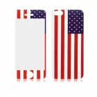 USA Flag Pattern Front and Back Tempered Glass Protectors Set for IPHONE 5 / 5S