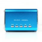 MD-05 Mini USB Rechargeable Chrome MP3 Player Speaker w/ TF Slot / LED Light - Blue
