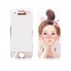 Girl Pattern Front and Back Tempered Glass Screen Protectors Set for IPHONE 5 / 5S