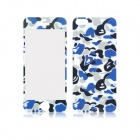 Front and Back Tempered Glass Protectors Set for IPHONE 5 / 5S - Camouflage Blue