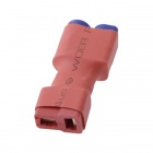 HJ EC5 T-Plug Female to EC5 Male Wireless Adapters for R/C Aircraft - Orange (5 PCS)