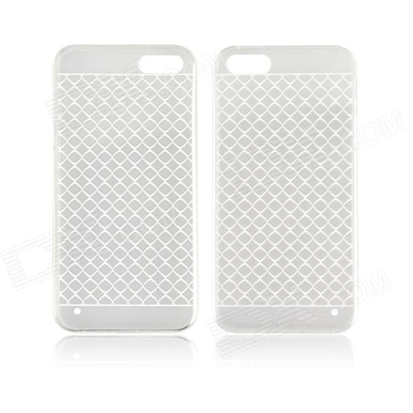 Angibabe 0.3mm Plaid Pattern Protective TPU Back Case for IPHONE 4 / 4S - White + Transparent shure blx288e pg58 m17