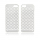 Angibabe 0.3mm Plaid Pattern Protective TPU Back Case for IPHONE 4 / 4S - White + Transparent