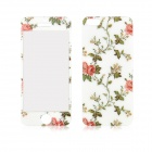 Peony Pattern Front and Back Tempered Glass Protectors Set for IPHONE 5 / 5S