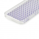 Angibabe 0.3mm Plaid Pattern Protective TPU Back Case for IPHONE 4 / 4S - Purple + Transparent