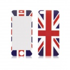 UK Flag Pattern Front and Back Tempered Glass Protectors Set for IPHONE 5 / 5S