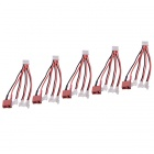 HJ XH 2.5mm 5-Pin Connectors Extension Wires for R/C Aircraft - Black + Red (5 PCS)