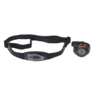 Sports Calorie Fitness Management Wrist Watch Pedometer w/ Chest Strap - Black + Orange