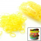 "S2014060008 DIY Elastic Silicone Band + ""S"" Hook Set for Children - Yellow"