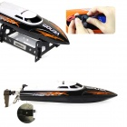 UDIR/C UDI001 Wireless Remote Control Boat / Speed Boat Shatterproof Model - Black + White (4 x AA)