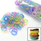 "S2014060008 DIY Elastic Silicone Band + ""S"" Hook Set for Children - Multicolored"