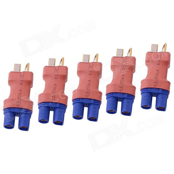 HJ EC3 Male a T-enchufe macho Conectores Adaptadores para R / C Aviones - Red + Blue