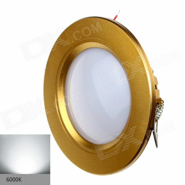 ZHISHUNJIA G025-3W 3W 200lm 6000K 12-2835 SMD LED White Light Ceiling Lamp - Golden (AC 85~265V) lexing lx r7s 2 5w 410lm 7000k 12 5730 smd white light project lamp beige silver ac 85 265v