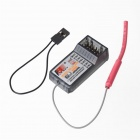 6-CH 2.4GHz Remote Control Receiver for Aircraft / Car / Ship Model - Black (4 x AAA)