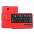 EPGATE D00299 Wireless Bluetooth V3.0 64-Key Keyboard + PU Case for Samsung Tab4 T230 - Red