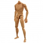 1:6 Scale Narrow Shoulder Action Figure Male Nude Body Display Model - Brown