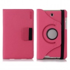 ENKAY ENK-7027 360 Degree Rotary Protective Case w/ Card Slots for Asus Fonepad 7 / ME372CG - Rose