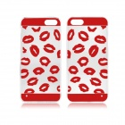 Angibabe Sexy Lips Pattern Transparent TPU Soft Case for IPHONE 5 / 5S - Red