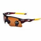 Outdoor Sports Explosion-proof UV400 Goggles Sunglasses - Brown + Yellow