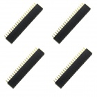 40Pin GPIO Female Headers for Raspberry Pi B+ - Black (4PCS)