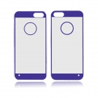 Angibabe 0.3mm Acrylic Soft TPU Phone Back Cover for IPHONE 5 / 5S - Purple + Transparent