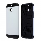 Protective Anti-shock Slim Armor PC and TPU Case for HTC One M8 - White