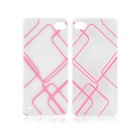 Angibabe 0,3 mm Karo-Muster TPU Soft Case für iPhone 5 / 5S - Pink