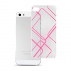 Angibabe 0.3mm Check Pattern TPU Soft Case for IPHONE 5 / 5S - Pink