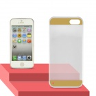 Angibabe Transparent 0.3mm Ultra Slim Soft TPU Gel Jelly Back Cover for IPHONE 5 / 5S -  Gold
