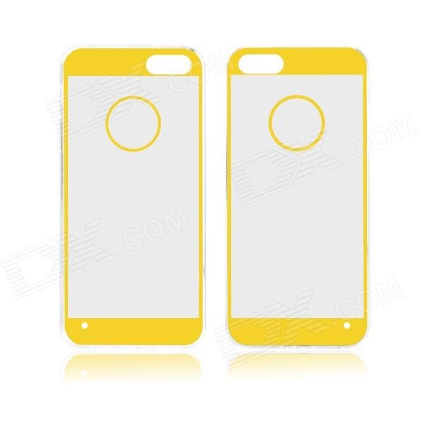 Angibabe 0.3mm Acrylic Soft TPU Phone Back Cover for IPHONE 4 / 4S - Yellow + Transparent tpu edge acrylic back combo cover for iphone 7 4 7 lovely girl