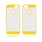 Angibabe 0.3mm Acrylic Soft TPU Phone Back Cover for IPHONE 4 / 4S - Yellow + Transparent