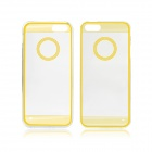Angibabe 0.3mm Circle Acrylic Soft TPU Phone Back Cover for IPHONE 4 / 4S - Yellow + Transparent