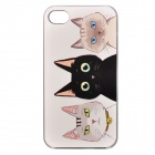 Color Painted Three Little Cats Pattern Ultrathin Shockproof Protective Back Case for IPHONE 4 / 4S