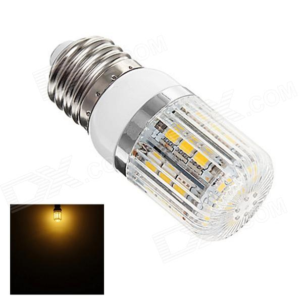 OOQ E27 3W 180lm 3000K 27-5050 SMD LED Warm White Light Corn Lamp - White + Silver (AC 220~240V)