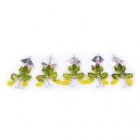 Artificial Frog Fishing Lure Bait - Yellow + Green + Black (5PCS)