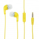 Havit E30P Universelle 3,5 mm Klinkenstecker Stereo Wired In-Ear-Ohrhörer w / Mikrofon - Gelb