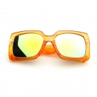Reflective Mirror Lens UV400 Sunglasses - Orange
