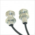 Kapeier 12V 1.5W 18mm Auto Car LED Eagle Eye Daytime Running Light Reverse Lamp Bulb - Silver (4PCS)